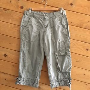 Joie Army Olive Green Cargo Crop Cotton Pants 28